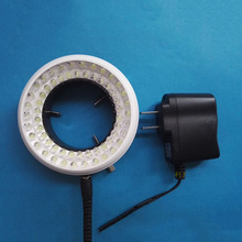 100~240V 60 LED Microscope Ring Illuminators Brightness Adjustable Industrial Camera CCD Machine Vision Microscopio Light Source rotating led adjustable brightness led inside microscope ring light white blue red yellow violet light