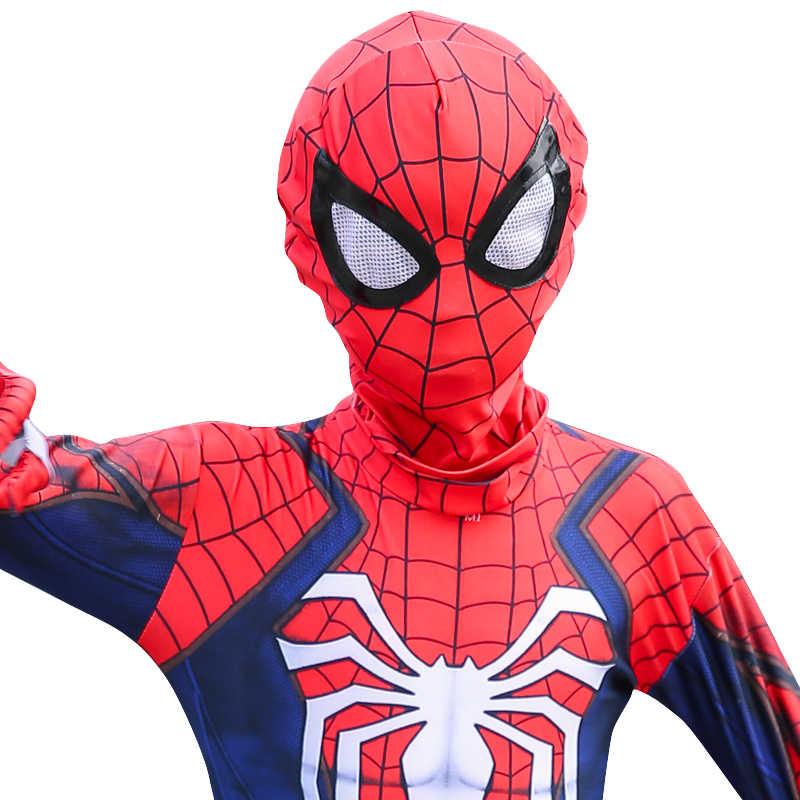 Spiderman Adulte Enfants Costume Cosplay Halloween D/éguisement,Performance De Noel Jumpsuit 3D Imprim/é V/êtements,Kid-L