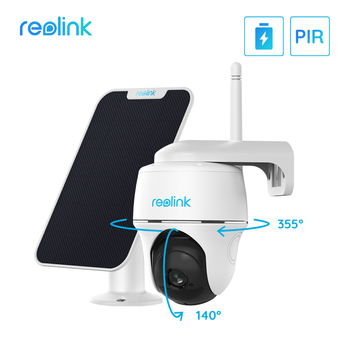Reolink Argus PT w Solar Panel 1080P WiFi Camera Rechargeable Battery/Solar Powered Security - discount item  30% OFF Video Surveillance
