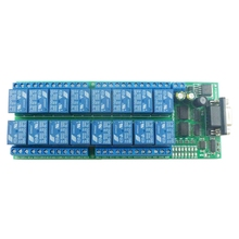 ABKT 16 Channel 12V RS232 Serial Port DB9 Relay Board UART Smart Switch Module LED Motor