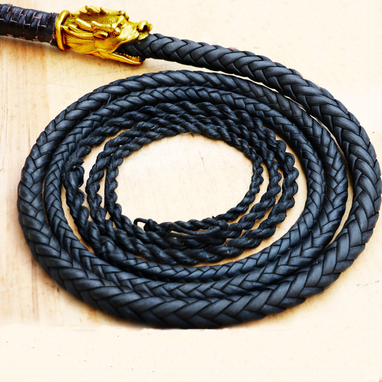 Pure Cowhide Ringing Whip Top Unicorn Whip  Martial Art Whip Shepherd Kungfu Wushu Whip