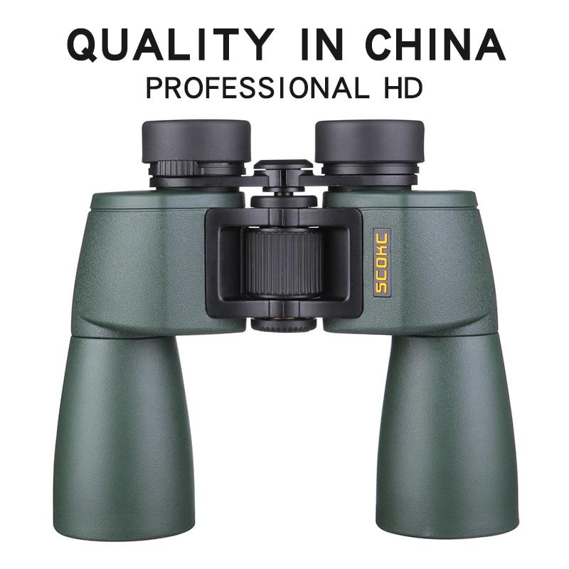 SCOKC Hd 10X50 powerful zoom Binoculars telescope for hunting  professional high quality no Infrared army Low night  visionMonocular/Binoculars
