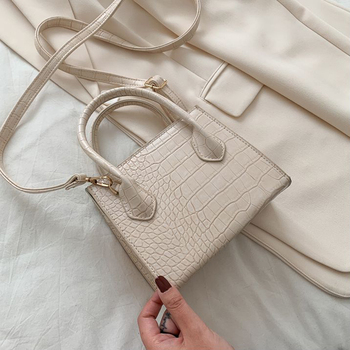 Small Crocodile Pattern Solid Color PU Leather Crossbody Bags For Women 2020 Summer Lady Shoulder Handbags Female Simple Totes