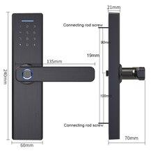 Wifi Tuya Aplicación de teléfono remotamente biométrica cerradura de puerta de huella digital IC código de dígitos para la oficina/Homestay/cerradura Hotal