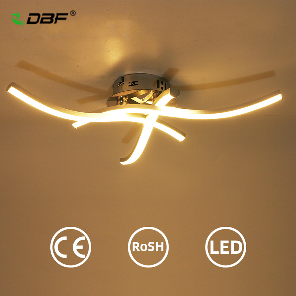 [DBF]Modern LED Ceiling Light 18W/24W Forked Shaped Round/Square Warm/Cold White Light Corridors Living Room Decor