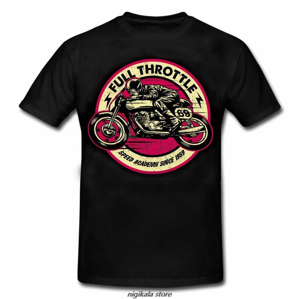 Casual mannen Outwears Populaire Ontwerp Hip Hop Anime Mannelijke t-shirt FULL THROTTLE CAFE RACER Special Edition ROCKABILLY BIKER Vintage