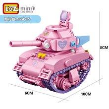 455 pçs loz mini tanque do veículo da rainha loques blocos de construção criativo diy meninas limite coleções presente brinquedos para crianças brinquedos