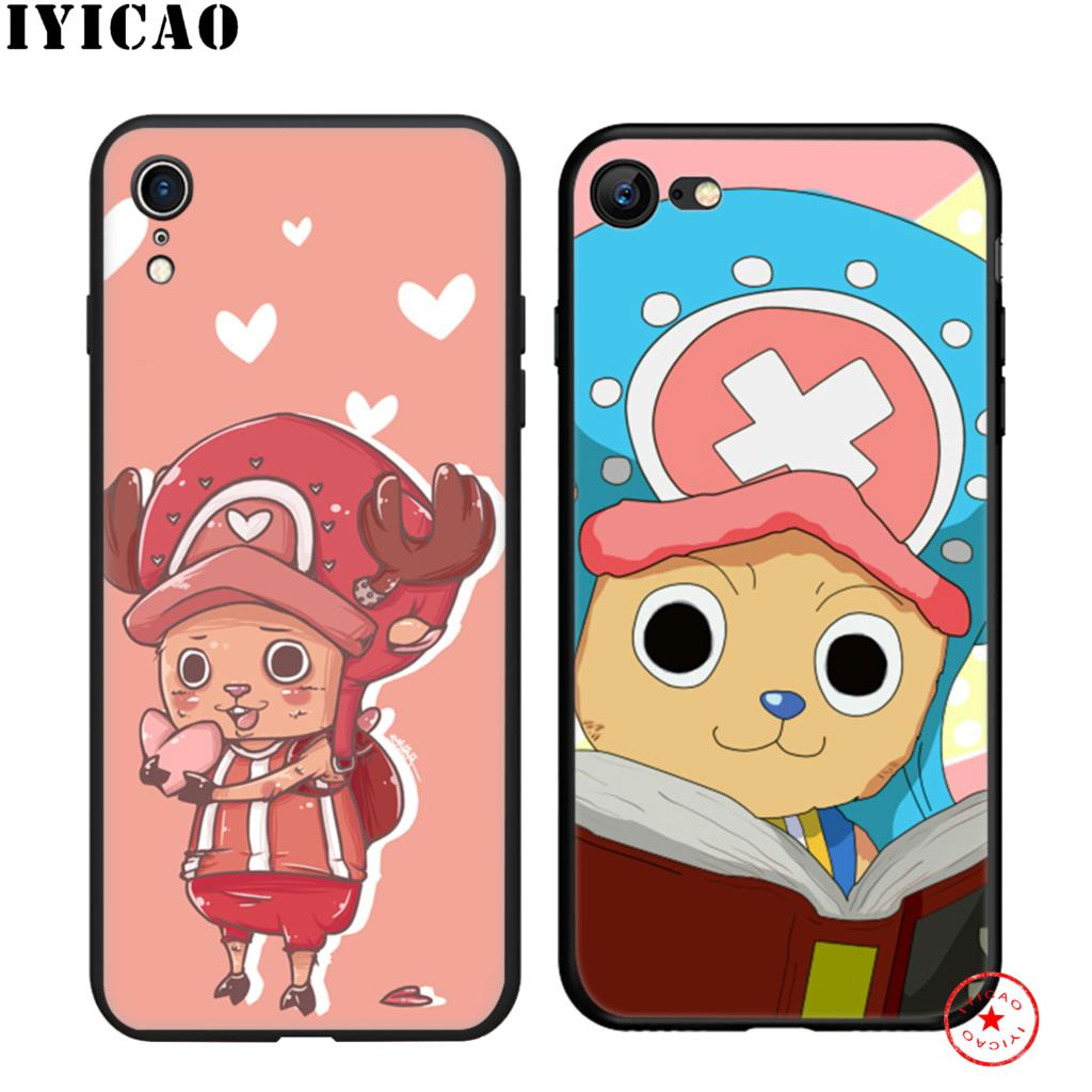IYICAO Chopper One Piece Cartoon Soft Black Silicone Case for iPhone 11 Pro Xr Xs Max X or 10 8 7 6 6S Plus 5 5S SE in Fitted Cases from Cellphones Telecommunications