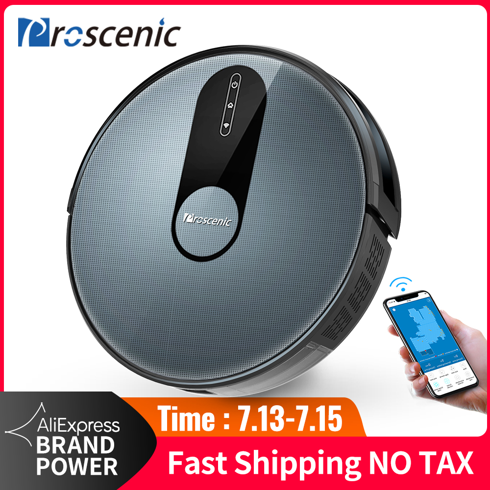 Proscenic Robot-Vacuum-Cleaner 1800pa-Suction Washing Smart-Robot Home with Wet-Cleaning