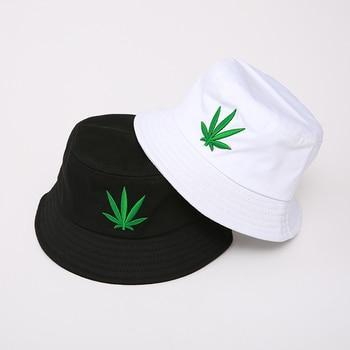 цена на Bucket Hats For Women Cotton Embroidery Panama Style Casquette Solid Color Fisherman Caps Visor Sun Hat Gorras
