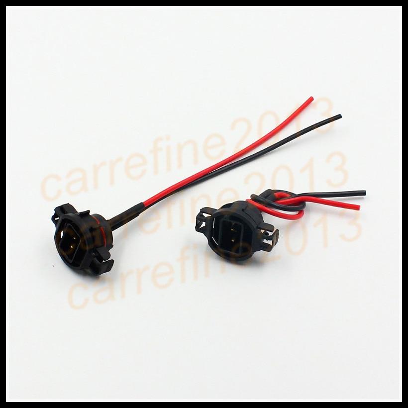 Rockeybright For Toyota H16 5202 Fog Lights Holder Plug Car H16 5202 2504 PSX24W Bulbs Connector Adapters Bulb Socket Holders