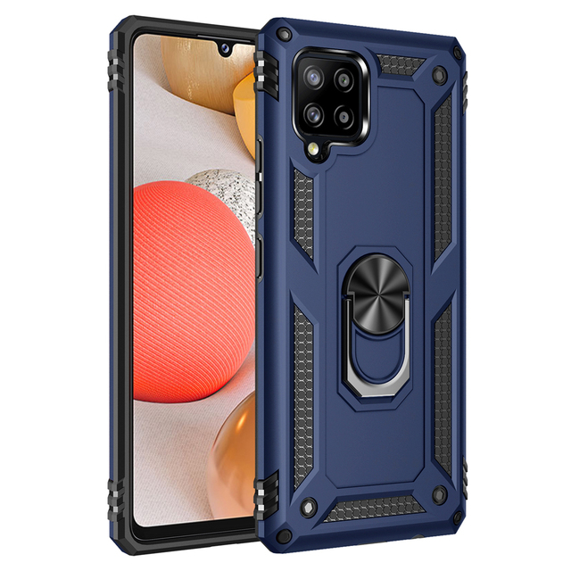 Shockproof Ring Stand Funda Cover for Samsung Galaxy A22 A32 A72 A52 A42 A12 5G S20 FE S20FE S21 Plus Ultra Case TPU Bumpe Coque 1