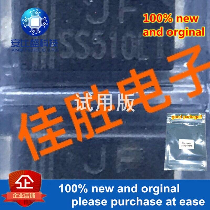 20pcs 100% New And Orginal 5A100V Low Dropout Schottky Diode SMA-FL Silk-screen SS510LT
