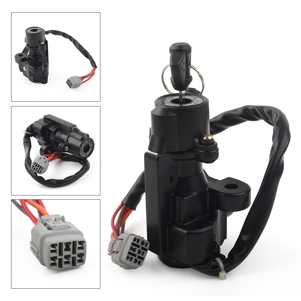 Motorcycle Ignition Switch <font><b>Kit</b></font> Assembly with 2 Keys For SuzukiGSXR600 GSXR 750 2006-2016 GSX-R1000 2005-2016 K5 K6 K7 <font><b>K8</b></font> K9 K10 image