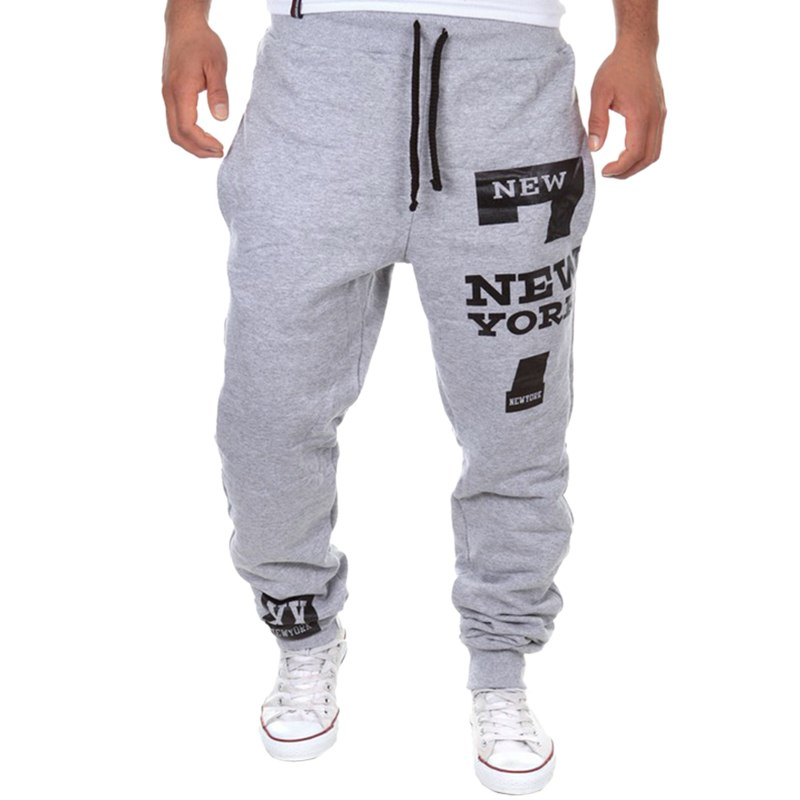 Brand Men Letter Print Sweatpants Male Joggers  Loose Hip Pop Casual Trousers Track Pants Calca Masculina