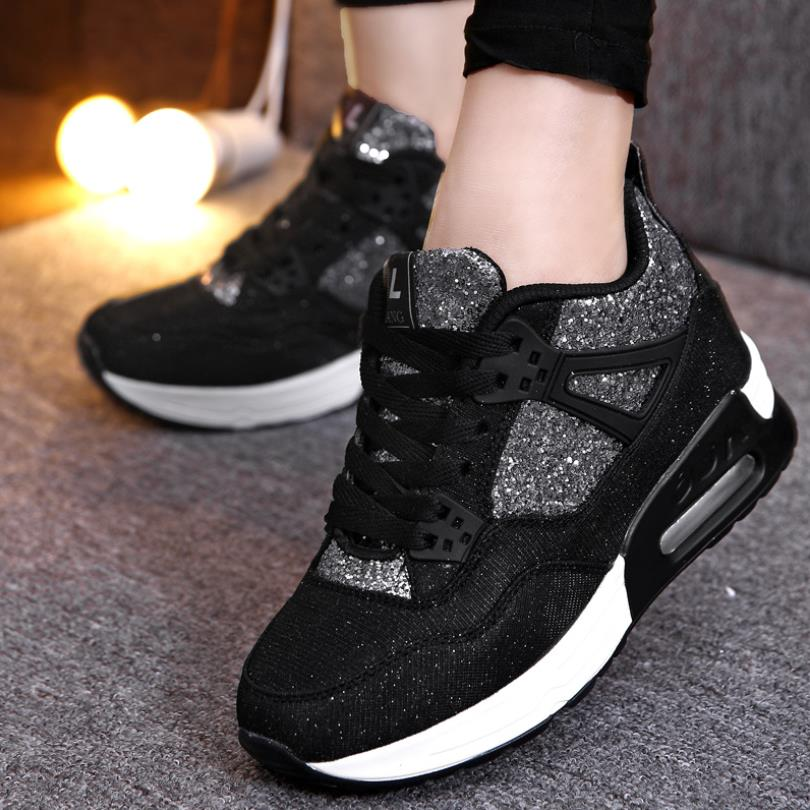Casual Women's Shoes Breathable Thick Bottom Increase Shoes Cushion Female Wild Trend Student Shoes