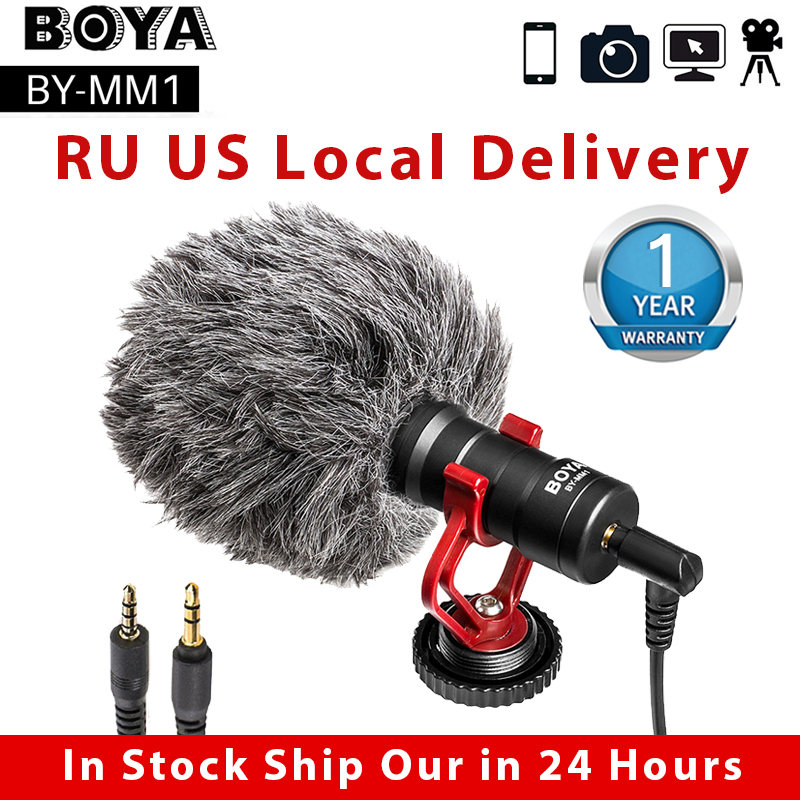 BOYA BY MM1 Video Record Microphone for DSLR Camera Smartphone Osmo Pocket Youtube Vlogging Mic for iPhone Android DSLR Gimbal|recording mic|microphone youtubevideo microphone - AliExpress