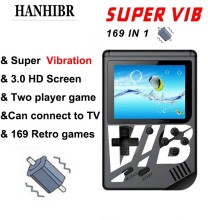 New Q5 Retro Mini 8 bit Fc game Video Built-in 169 Games handheld console Super VIB 30 Vibrating sup