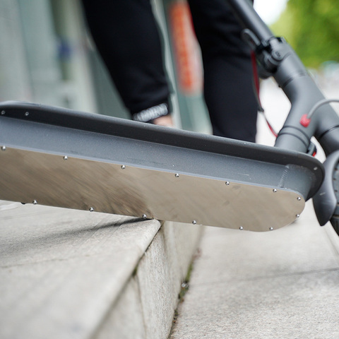 Capa de Aço Inoxidável para Chassi de Scooter Deslizantes da Placa para Xiaomi Peças M365 Pro