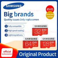Оригинальная карта памяти SAMSUNG EVO Plus, 64 ГБ, U3 EVO + 128 ГБ, 256 ГБ, класс 10, Micro SD карта, 32 ГБ, 16 ГБ, microSD, UHS-I, U1, TF карта