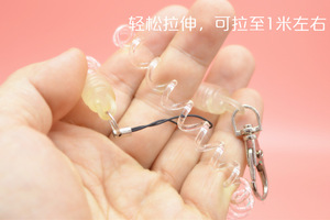 Image 5 - DHLfree 500pcs Black Retractable Spring Coil Spiral Stretch Chain Key chain Key Ring Spring Rope