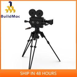 New BulidMOC City Building Blocks Old Fashioned Movie Camera Laptop Briefcase Phone Camera Chair Bricks Toy Parts C331