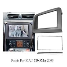 2Din Car DVD Radio Stereo Frame Fascia For Fiat Croma 2005 Panel Plate Mounting Refitting Installation Bezel Trim Kit