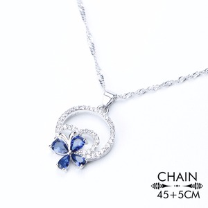 Image 3 - Wedding Silver 925 Jewellery Costume Jewelry Sets Women Blue Zirconia Bracelet Ring Pendant Necklace Earrings Set Gift Box