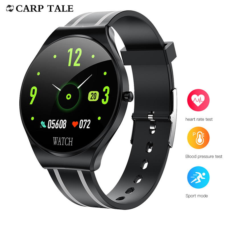 smart watch 2020 women  IP67 waterproof  men smartwatch  Power Reserve Heart Rate Tracker watches Striped silicone tape