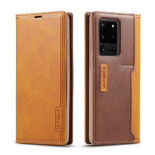 Magnetic Flip Case For Samsung Galaxy S20 Ultra Case Luxury Wallet Card Slot Galaxy S20 Ultra Cover PU Leather Phone Bags