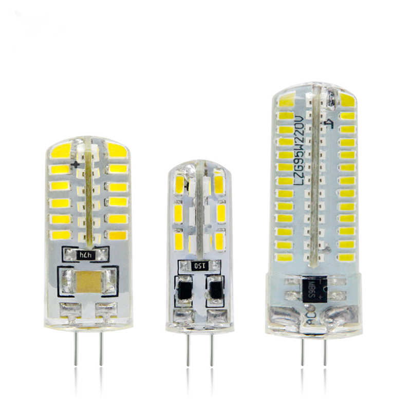 LED G4 Lamp 220V 3W 4W 5W DC 12V Lampada G4 LED bulb SMD3014 2835 24 48 64 104L Replace 10w 30w Halogen Light 360 Beam Angle