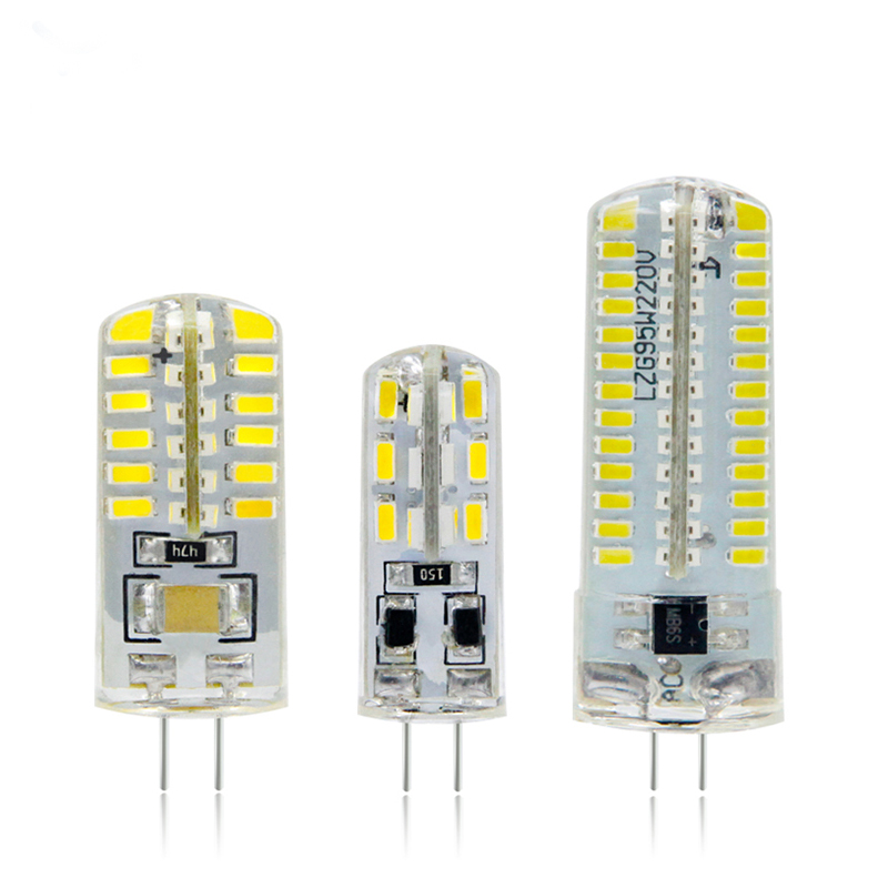 LED G4 Lamp 220V 3W 4W 5W DC 12V Lampada G4 LED Bulb SMD3014 2835 24 48 64 104L Replace 10w 30w Halogen Light 360 Beam Angle
