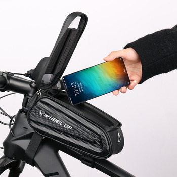 Rainproof Bicycle Bag Frame Front Top Tube Cycling Bag Reflective 6.5in Phone Case Touchscreen Bag 1