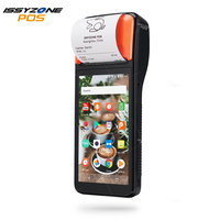ISSYZONEPOS Android 7.1 Handheld Printer PDA 2D Camera Reader POS Terminal PDA 1D Laser Barcode Scanner Inventory Management