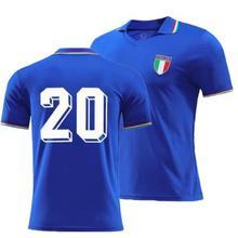 Camisetas Retro de Italia para hombre, camisa de manga corta con nombre personalizado, color azul, de alta calidad, 1982