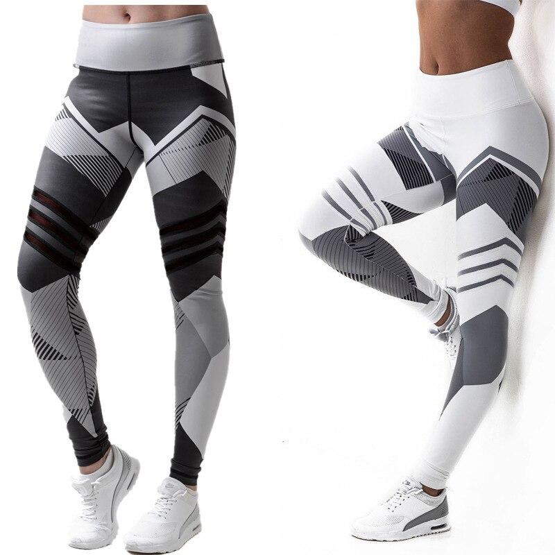 2019 Women Leggings Geometric Digital Printing Fitness Pants Yo-ga Exercise Printing Leggings Fitness Legging Workout Leggings