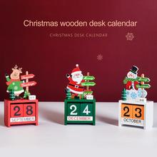 Christmas Decoration Wooden Calendar Santa Gnome Elderly Home Decoration Countdown Merry Christmas Decor For Home Natal Navidad