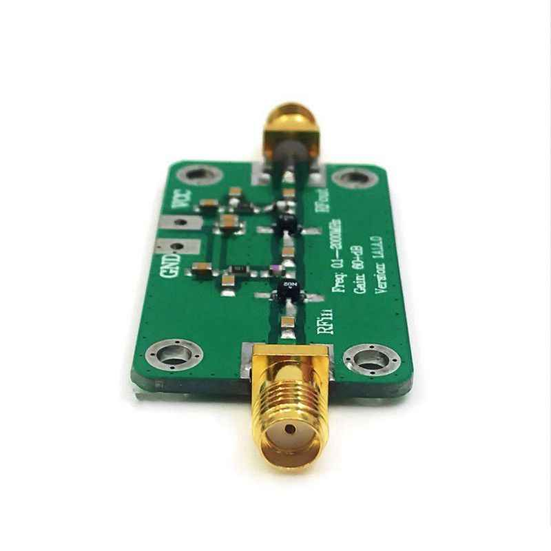 AMS-NEW 0.1-2000MHz Gain 60dB RF Broadband Amplifier Module LNA Board LNA 0.1~2GHZ