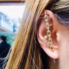 EN Punk – boucles d'oreilles chaîne carrée EN métal, crochet d'oreille pour femmes, Vintage, alliage géométrique, boucles d'oreilles creuses, bijoux, 2021