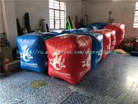 Customized Size 1M Advertising Water Floating Square Inflatable Marker Buoy / Air Cube Buoys For Water Sport Games