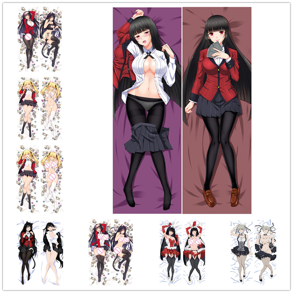 Anime Jabami Yumeko Kakegurui Gambaling Dakimakura Hugging Pillow Case Cover B