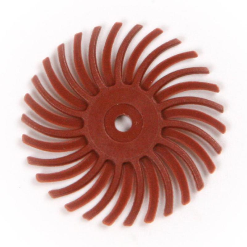 1Pcs 80#-2500# Grit Colorful Aluminum Oxide Grain Polishing Wheels 25mm Diameter Radial Bristle Polishing Brush Tools