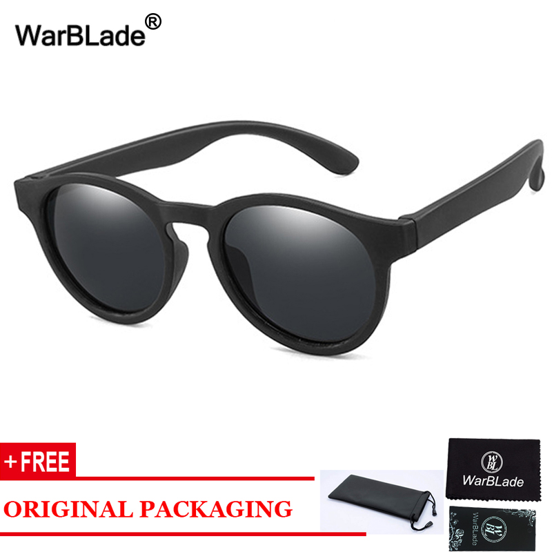 WarBlade Round Children Polarized Sunglasses Boys Girl Kids Sun Glasses Silicone Safety Baby Infant Shades Eyewear UV400 Oculos