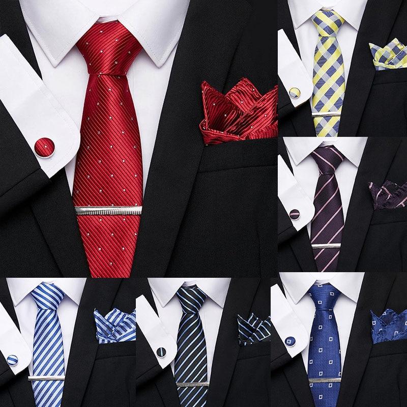 Wedding Red Novelty Stripe Dot 7.5 Cm 100% Silk Necktie Formal Dress Accessories Casual Skinny Cravat Gift For Men Bow Tie