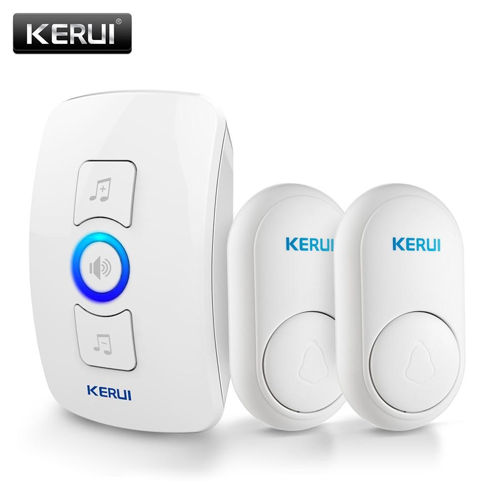 KERUI M656 Wireless Doorbell Waterproof Touch Button Home Security Welcome Intelligent Doorbell Alarm LED Lamp 32 Tones