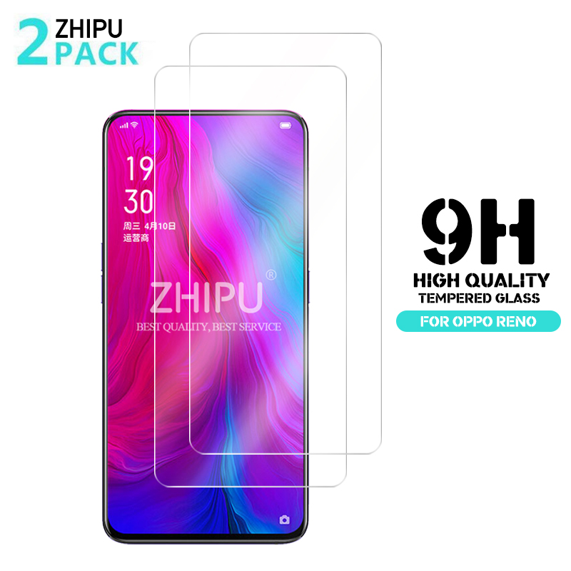 2Pcs Tempered Glass For Oppo Reno Glass Screen Protector 2.5D 9H Premium Tempered Glass Oppo Reno 6.4 Protective Film