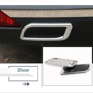 Image 2 - 2 Pcs DIY רכב סטיילינג ABS chrome אחורי פגוש קישוט צינור פליטת גרון זנב מדבקות לסיטרואן C4 C5 האליזה אבזרים