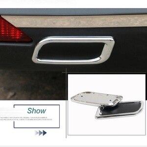 Image 2 - 2 Pcs Styling Auto FAI DA TE ABS del bicromato di potassio del respingente posteriore di scarico decorazione tubo di coda gola Adesivi Per Citroen C4 C5 Elysee accessori