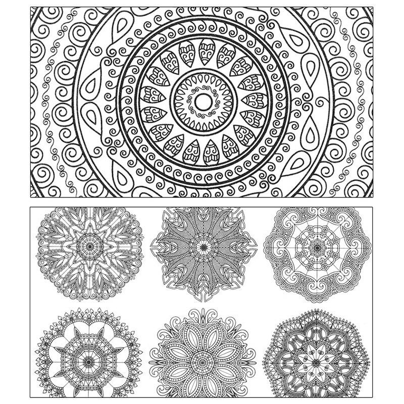 Flor De Mandala Libro Para Colorear Juguetes Educativos Para Ninos