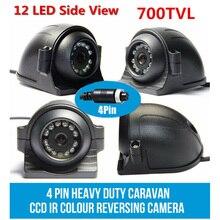 4-PIN Car Night Vision Camera 4Pin 700 TVL IR 12-LED Side View Color Camera 12V 24V For Truck Trailer Bus RV PAL video system